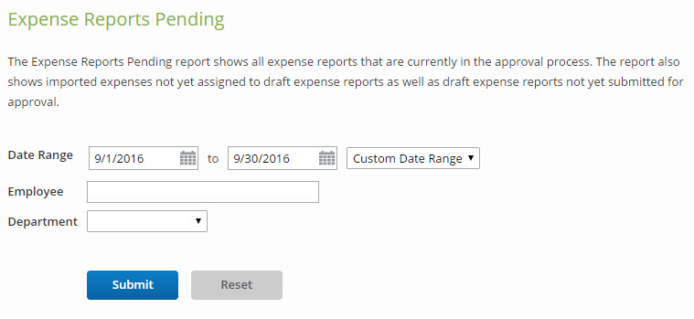 Expense Reports Pending – Certify Help Center