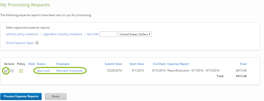 Processing Expense Reports Certify Help Center – Expense Reports